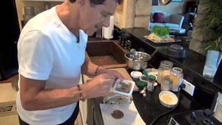 Fine-dining Dessert - Chef Sal's Rawpalooza Teaser Video - Raw Banana Blueberry Napoleon Desert