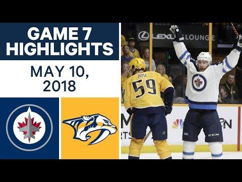 NHL Highlights   Jets vs. Predators, Game 7 - May 10, 2018