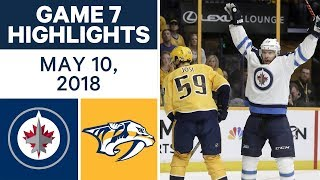 NHL Highlights | Jets vs. Predators, Game 7 - May 10, 2018