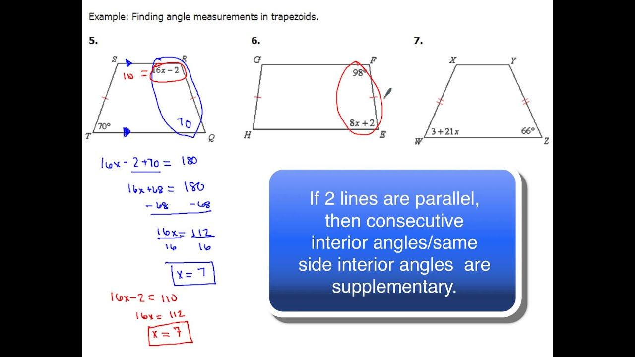 85 Trapezoids And Angles