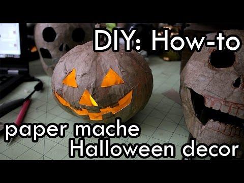 how to make paper mache halloween decorations diy