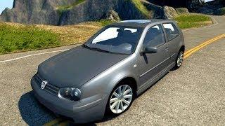 BeamNG.Drive Mod : Volkswagen Golf Mk4 (Crash test)