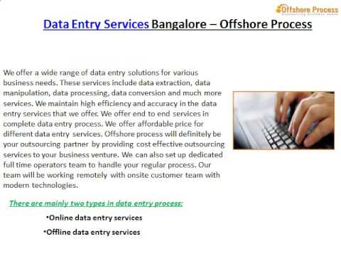 Outsourcing Data Entry   Offshore Process