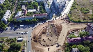 Реконструкция ул. Луначарского/Московское шоссе 14.08.2017