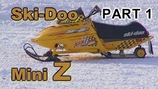 Ski-Doo Mini Z: Two Kids Riding PART 1  HDR-PJ790V