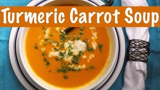 Carrot Turmeric Soup | Detox Vegan Soup | The Frugal Chef