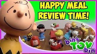 The Peanuts Movie (2015) FULL SET Happy Meal Review Time + SHOUT OUTS! | Bin