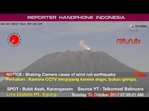 Bali Volcano : Mount Agung – Gunung Agung update real time. 22102017 - II