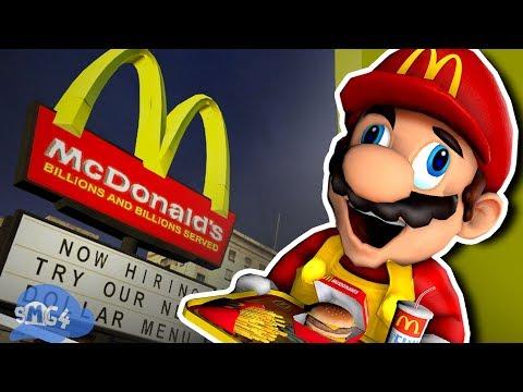 SMG4: Mario Works At Mcdonalds