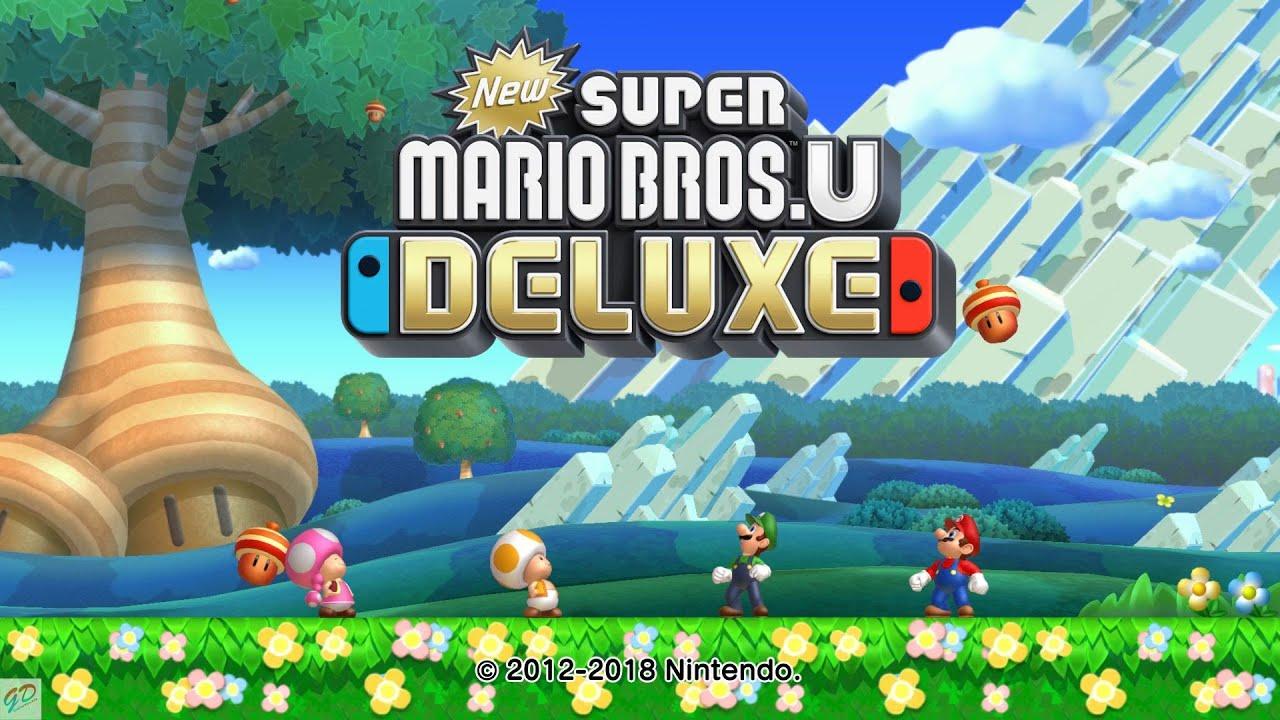 New Super Mario Bros U Deluxe Co Op Gameplay Nintendo Switch Youtube