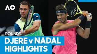 Laslo Djere vs Rafael Nadal Match Highlights (1R) | Australian Open 2021