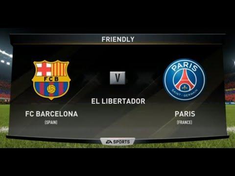FIFA 18 | FC BARCELONA VS PSG XBOX ONE / PS4 | FULL MATCH GAMEPLAY