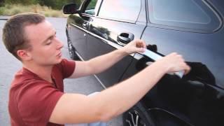 как клеить на авто наклейки видео