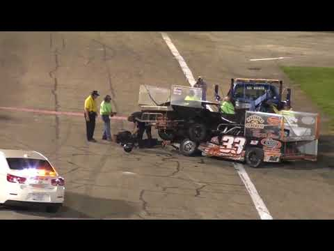 Drivers fight after crash at Anderson, Indiana race