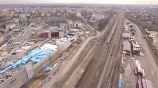 Budowa Centrum Handlowo Rozrywkowego Nowa Stacja w Pruszkowie. Kwiecień 2018