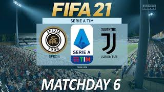 Fifa 21 spezia vs juventus | serie a 2020/21 cpu full match stadio dino manuzzi - cesena, italy #spejuv #juve #forzajuve #juventus #spezia #ser...