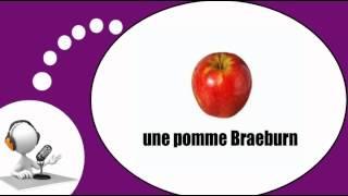 Французского видео урок = яблоки