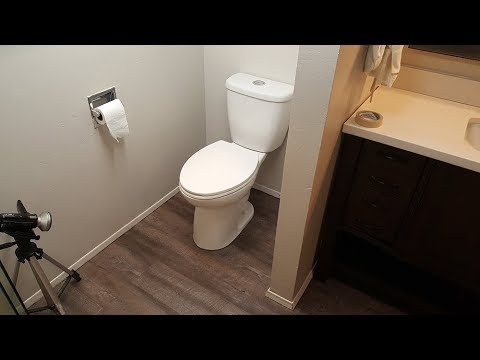 Laminate floor under toilet for Commode plank