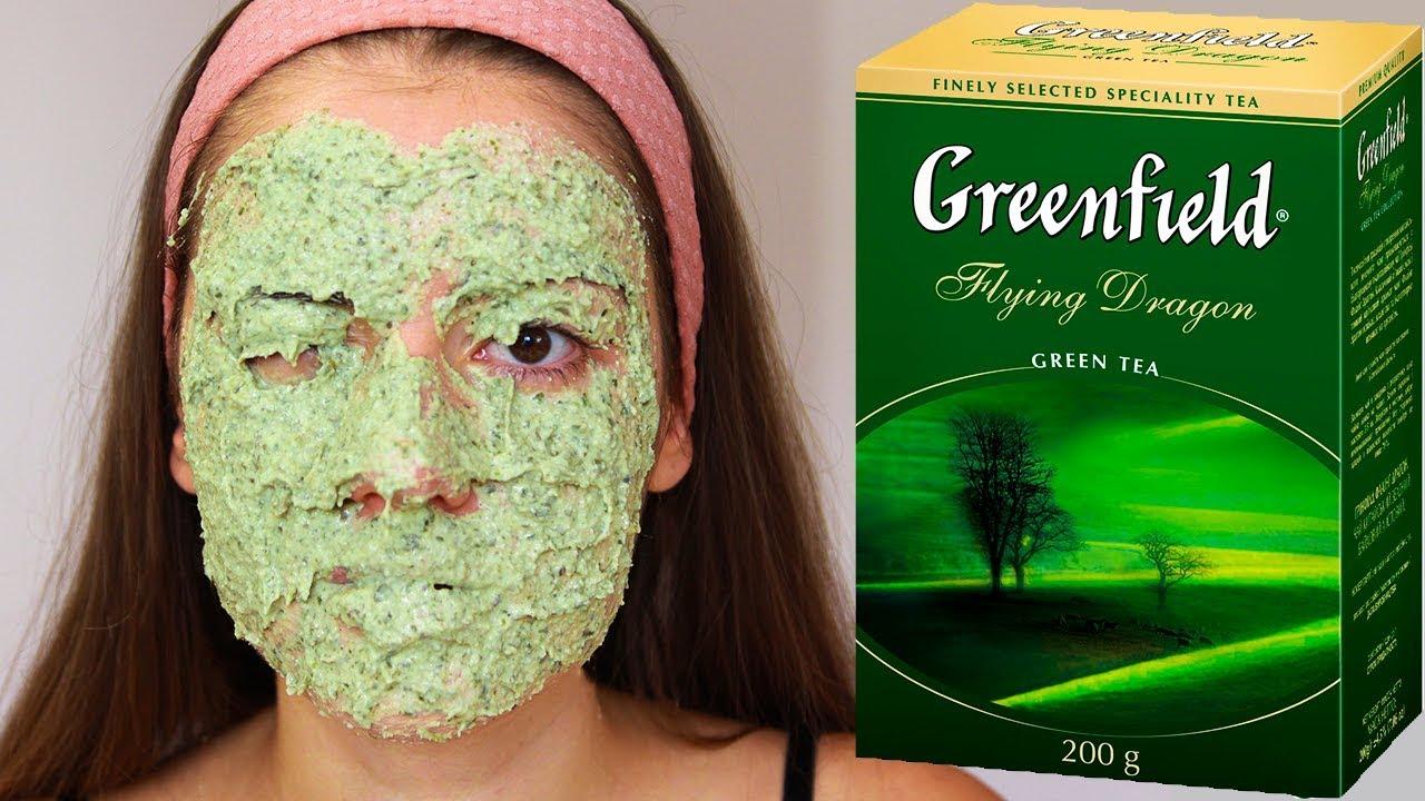 Маска из зелёного чая для лица