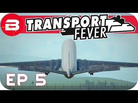 Transport Fever Gameplay - PLANES & TRAMS NETWORK (Let's Play Transport Fever #5)