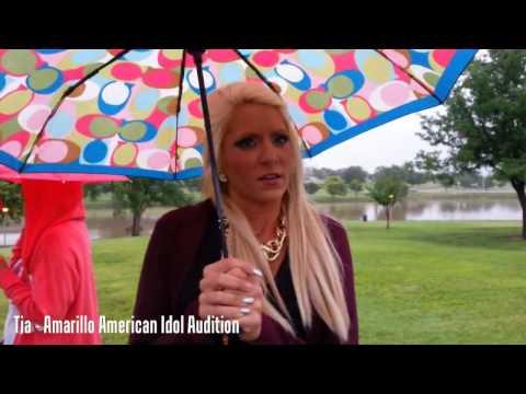 American Idol Tour Bus Audtions In Amarillo - Tia