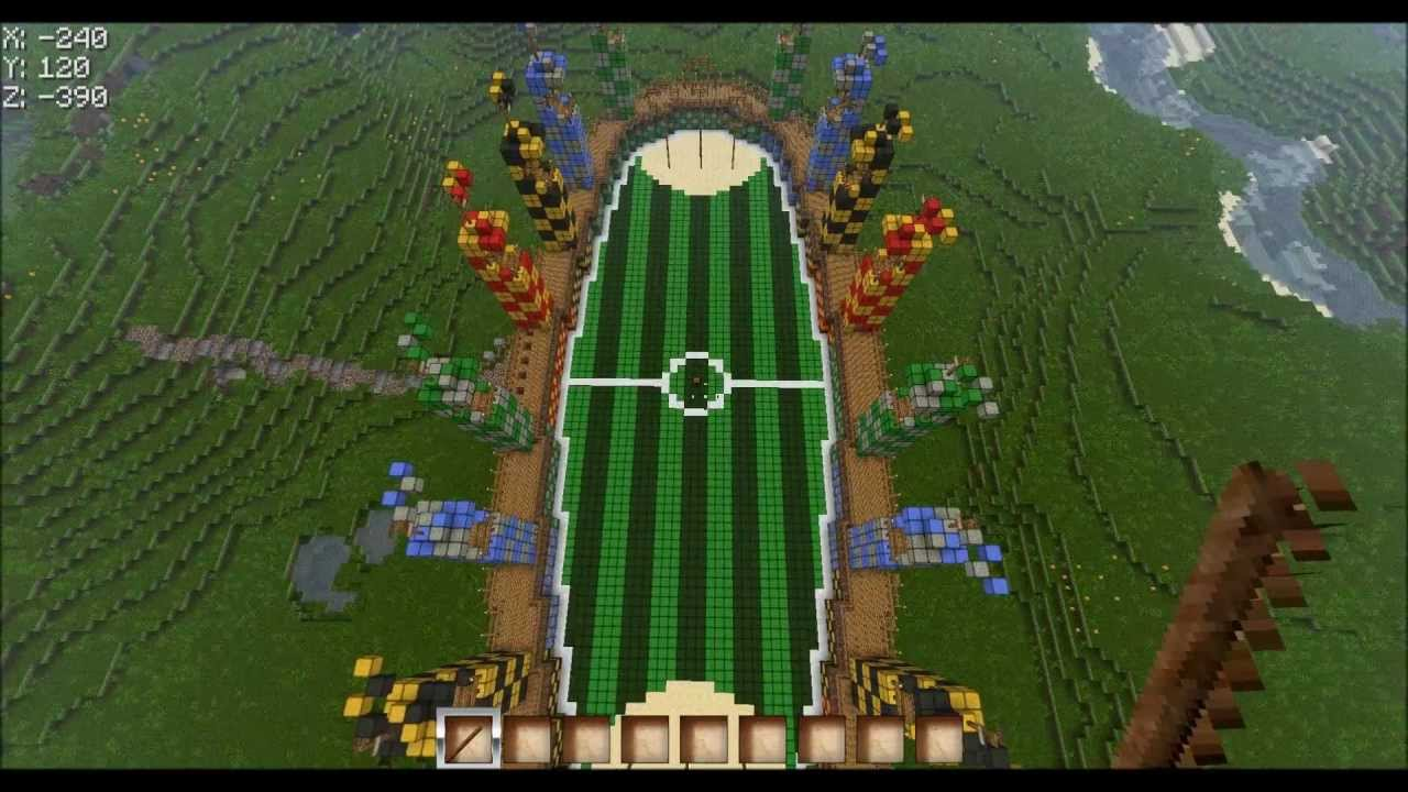 Minecraft Quidditch Stadion Beta Version Harry Potter Youtube