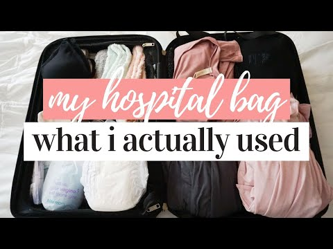 WHAT I ACTUALLY USED FROM MY HOSPITAL BAG 2020 ����✨��