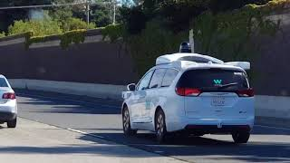 Google Waymo cars out and about on public highways 06-07-2018