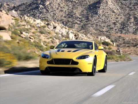 All New 2014 Aston Martin V12 Vantage S- Yellow - YouTube