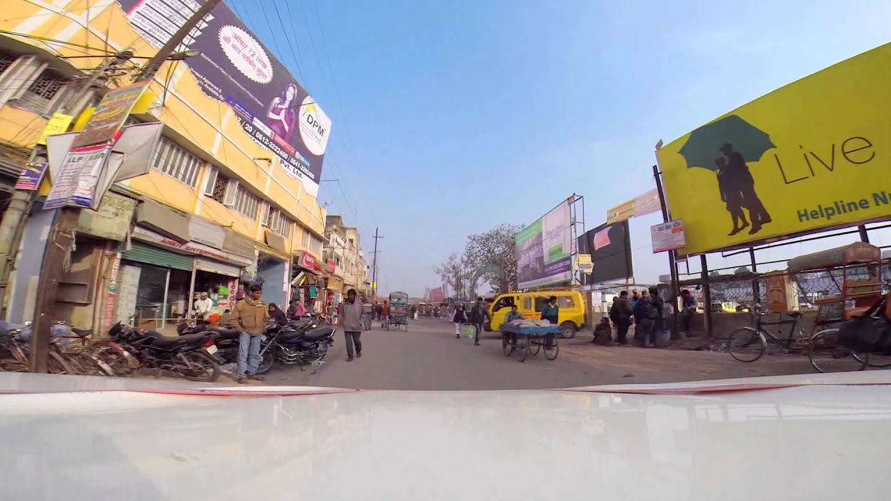 Bhagalpur India Driving Through The City With A Gopro