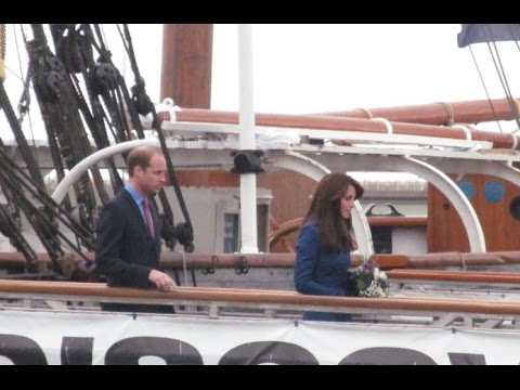 PRINCE WILLIAM & THE DUCHESS OF CAMBRIDGE VISIT THE DISCOVERY POINT IN DUNDEE