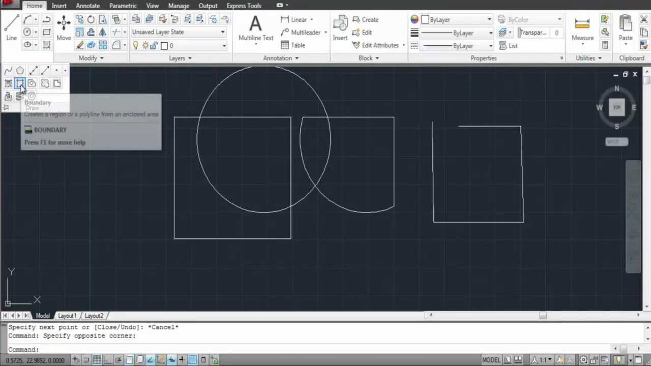 How To Create Boundaries In AutoCAD