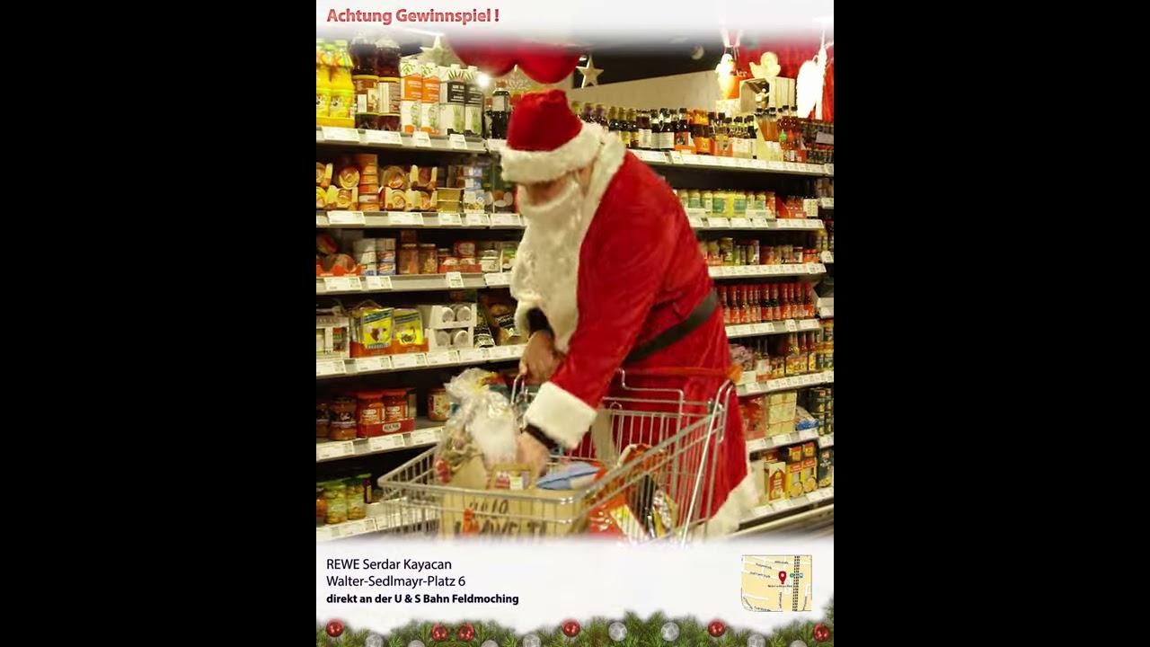 Weihnachtsgewinnspiel REWE Kayacan OHG   Der Weinachtsmann geht Einkaufen   Spot 7/7