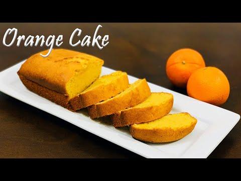 Orange Cake   Easy Orange Cake Recipe   Fluffy Orange Cake With Orange Juice   Orange Pound Cake