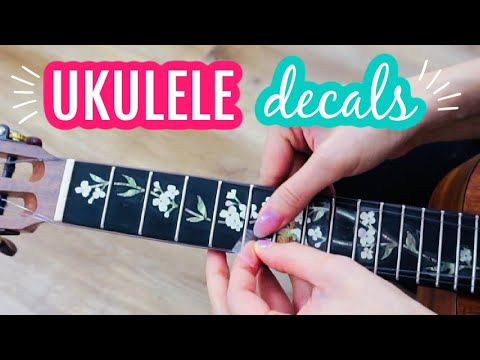 Make Your Ukulele Look Expensive - Ukulele Inlay Decal