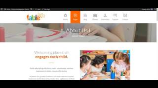 Fable - Children Kindergarten WordPress Theme: Setup Menu Locally