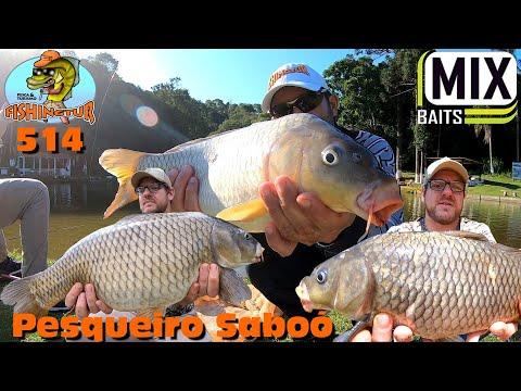Programa Fishingtur com Dinho no Pesqueiro Saboó