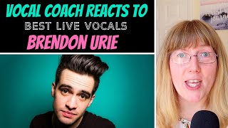 The Honest Vocal Coach Reacts to Brendon Urie's Best LIVE Vocals