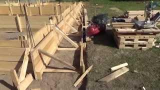 Фундамент для бани .  Установка опалубки  и  арматуры .  Часть 4 .(Этот ролик обработан в Видеоредакторе YouTube (https://www.youtube.com/editor), 2015-09-11T09:05:20.000Z)