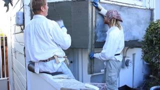 Correcting Stucco On A D-i-y Bay Window Patch