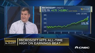 Microsoft hits all-time high after earnings beat