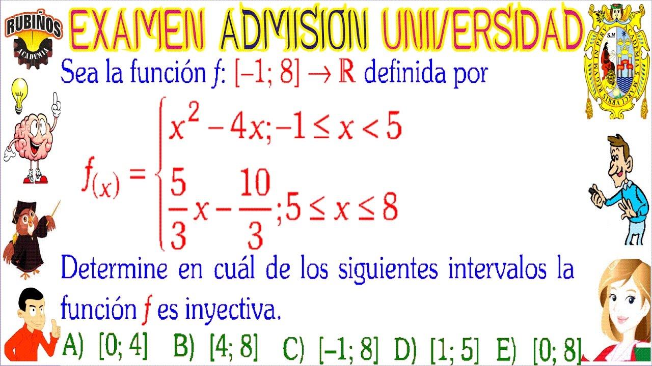 examen san marcos 2018 DECO admisión universidad álgebra UNMSM ...