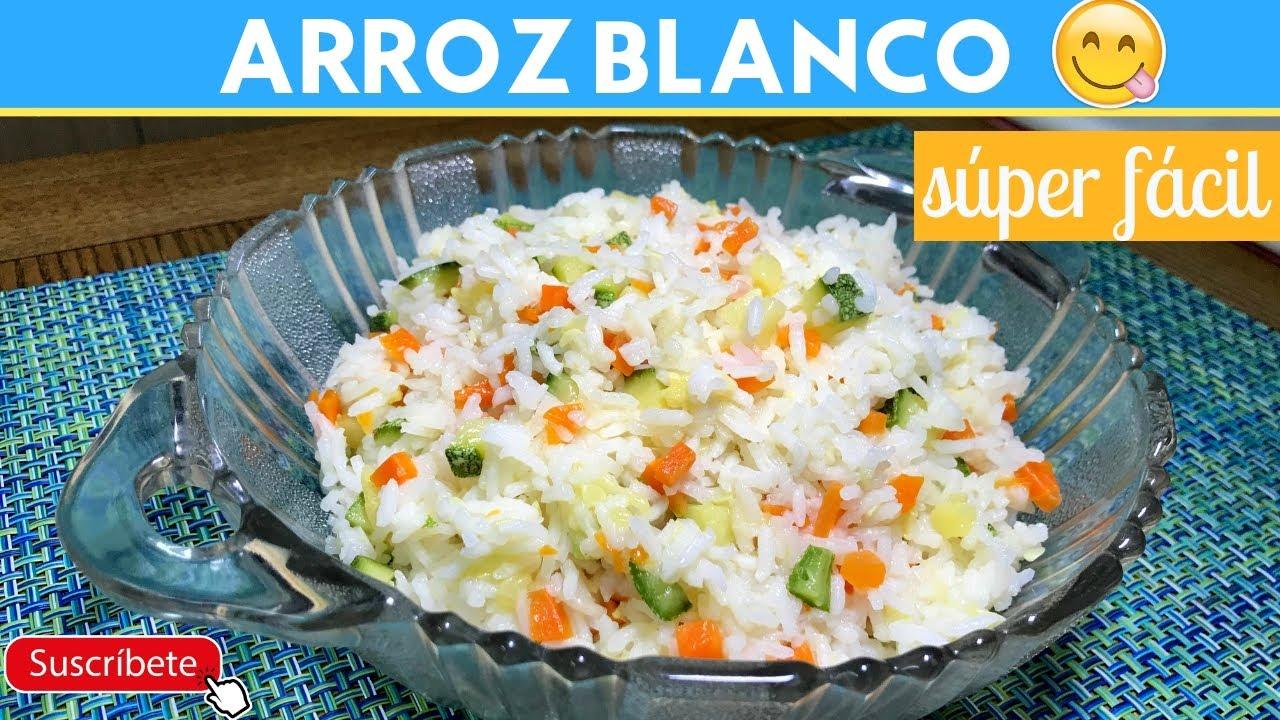 recetas sanas arroz blanco