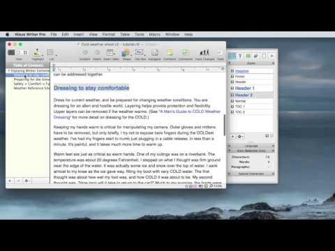4. Nisus Writer Pro - Navigating & Organizing