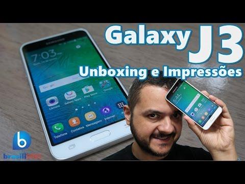 Galaxy J3 2016 - Smartphone Bom e Barato! Unboxing e Impressões em Português!