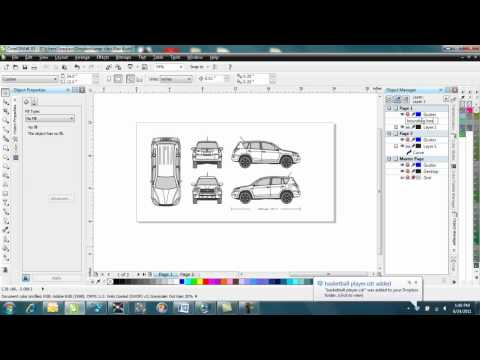 How to make a Vehicle wrap template in Corel Draw