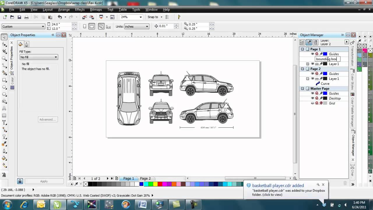 How to make a vehicle wrap template in corel draw youtube malvernweather Choice Image