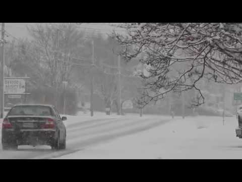 Winter Road Conditions in Meteghan, Nova Scotia Jan 6 2017 3pm