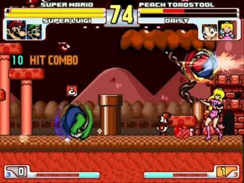 Download Super Mario and Super Luigi vs Peach Toadstool and Daisy MUGEN Battle!!!