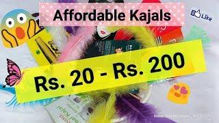 Most Affordable Kajals || Rs. 20 - Rs. 200 || Top 10 Best  Affordable Kajal in India ||